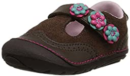 Stride Rite SM Shiela T-Strap Mary Jane (Infant/Toddler), Brown, 3 M US Infant