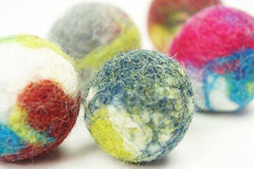 5-Stck-Katzenspielzeug-Schafwolle-Ball-Handmade-Gefilzt-Natrliche-und-kologische-Wolle-Hergestellt-von-kivikis-Gratisversand