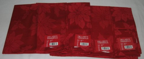 dillard-trimmings-set-of-4-red-holiday-christmas-linen-napkins