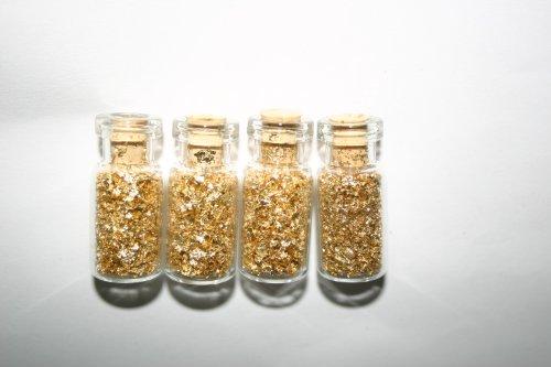 bottiglie-of-gold-flake-quattro-bottiglie-di-vetro-tappata