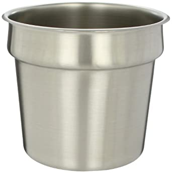 """San Jamar P417 FrontLine Round Inset Container, 9-1/2"""" Diameter, 7qt Capacity"""
