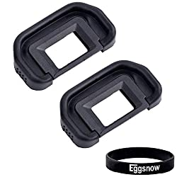 Eggsnow (2-Pack) Eyepiece Eyecup Eye Cup (Canon EB Replacement) for CANON EOS 5D Mark II / 5D / 6D / 70D / 60D / 60Da / 50D / 40D, CANON Rebel (Ti, XSi, XS, XTi, XT)