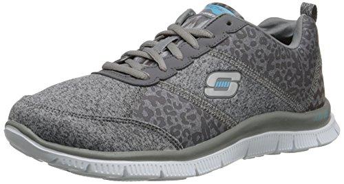 SkechersFlex AppealTribeca - Sneaker donna, Grigio (CHAR), 37