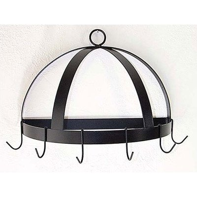 Half Dome Wall Mounted Pot Rack Finish: Jade Teal famous collection rectangular ext famous collection table in darkbrown finish