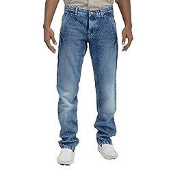 Inego Men's Cotton Slim Fit Jeans - Blue, (32)