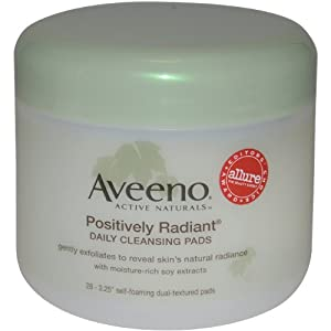 Aveeno Active Naturals Positively Radiant Cleansing Pads, 28 Count