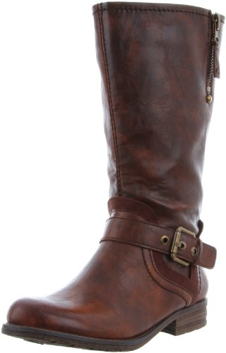 Naturalizer Women's Balada Wide Shaft Motorcycle Boot,Brown,5.5 M US