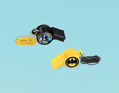 """Amscan Awesome Batman Whistle (1 Piece), Black/Yellow, 2 1/4 x 7/8"""""""