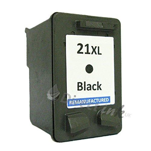 HP 21 XL Schwarz Remanufactured Tintenpatrone für Officejet, psc 1410/1410 1410XI 4300