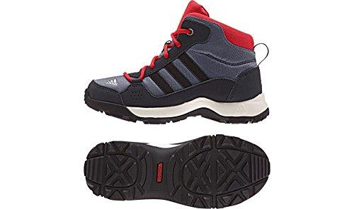 adidas Outdoor Kids Unisex Hyperhiker (Little Kid/Big Kid) Onix/Black/Vivid Red Boot 5.5 Big Kid M (High Top Adidas For Boys compare prices)