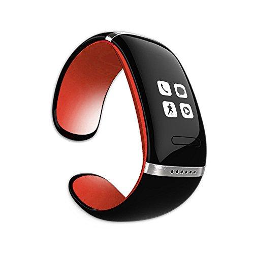 MEMTEQ® Reloj Inteligente Bluetooth Pulsera llamadas de Manos libres / Móvil Anti-perdida / Podómetro Para Teléfono Android, Iphone (IOS), Symbian (Nokia), BlackBerry OS, Windows Teléfono Rojo