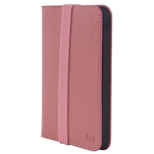 Special Sale August Accessories HX1306-PINK Hex Axis Wallet for iPhone 5 - Retail Packaging - Torino Pink