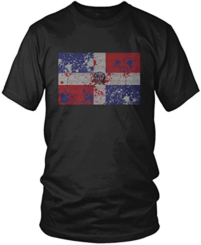 Dominican Republic Flag, Faded Abstract Dominican Flag Men's T-shirt, Amdesco, Black Small (Made In Dominican Republic compare prices)