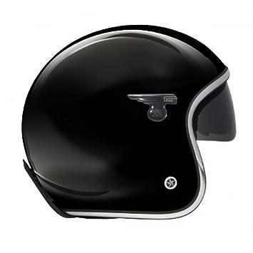 GPA casque jet CARBON SOLAR brillant noir, taille:XS