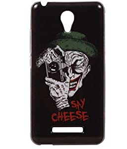 Say Cheese Exclusive Rubberised Back Case Cover For Karbonn Titanium Machfive / Mach Five 5