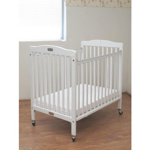 Folding Wooden Compact Crib In White front-1060585