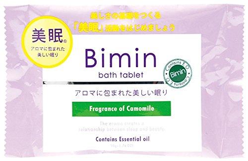 ノルコーポレーション お風呂用 芳香剤 美眠 バスタブレット カモミール 40g OBーBIOー2ー3