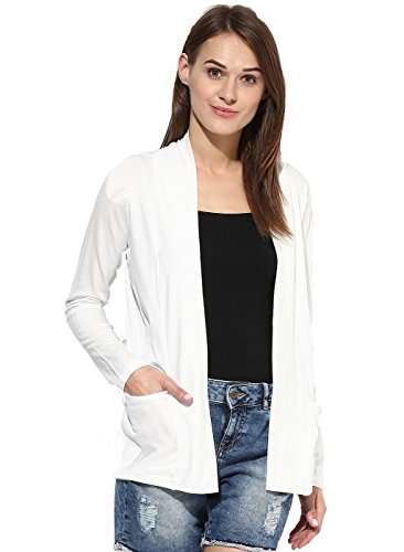 ESPRESSO WOMEN LONG SHRUG - OFFWHITE