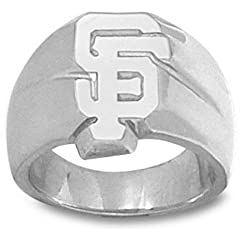 San Francisco Giants SF 5 8 Mens Ring Size 11 - Sterling Silver Jewelry by Logo Art