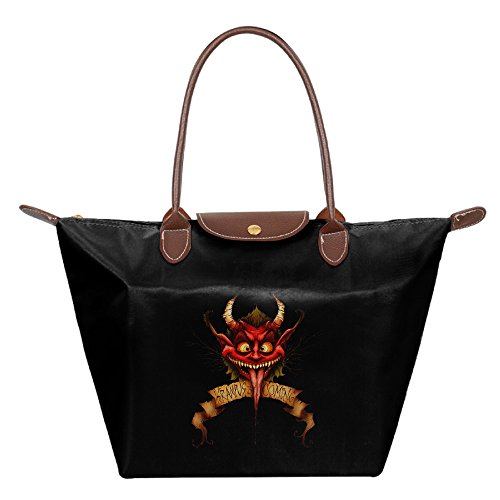 CHRIS-Greetings-From-Krampus-Casual-Handbag-Purse-Bag-Black