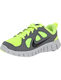 Nike Free 5.0 (PS) Youth Trail Runners Volt/Black-Cool Grey-Pr Pltnm (11C)
