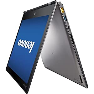 "Lenovo Yoga 2 Pro Convertible Ultrabook Tablet - Intel Core i7-4500U, 256GB SSD, 8GB RAM, 13.3"" QHD+ 3200x1800 Touchscreen, Intel HD4400 Graphics, Intel 7260-N WiFi, Bluetooth, HD Webcam, USB 3.0, Backlit Keyboard, Windows 8.1 (Silver Grey) from Lenovo"