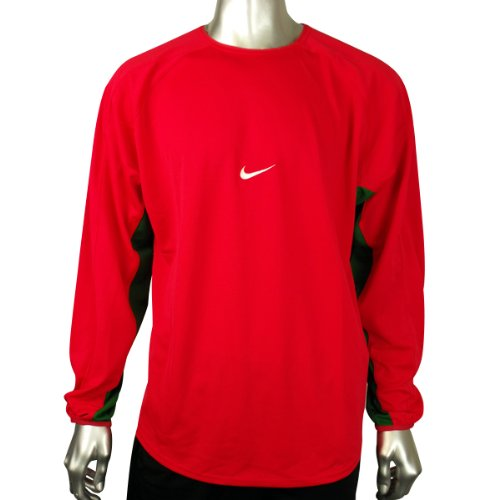 Mens Nike Dry Dri FIT Red Football Running Shirt Training Top Gym Tee Size L