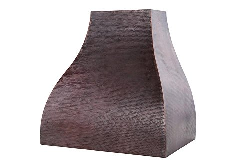 36 in. Hand Hammered Copper Wall Mounted Campana Range Hood (625 CFM with Baffle Filters)