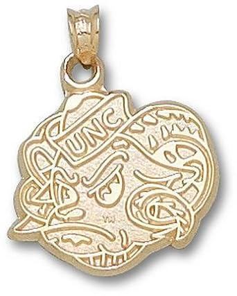 North Carolina Tar Heels New Rams Head Pendant - 14KT Gold Jewelry by Logo Art