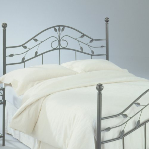 Metal Bed Headboard : White Iron Bed Frame: Fashion Bed Group Sycamore Full-Size Hammered ...