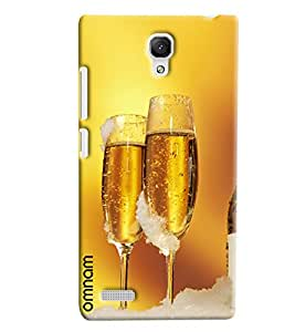 Omnam Super Chilled Beer In Glasses Printed Back Case For Xiaomi Redmi Note Prime