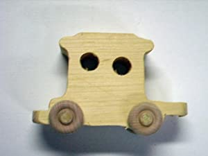 WOODEN TOY CABOOSE TRAIN CAR (SMALL)