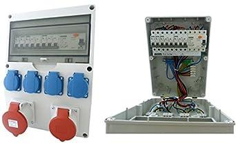 2x 6-fach Steckdosenleiste schaltbar für Außen Mehrfach-Stromverteiler H07RN-F