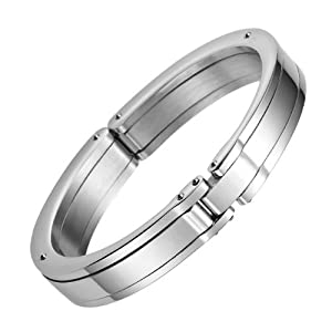 Mens Massive Solid Stainless Steel Handcuff Bracelet Bangle Jewelry