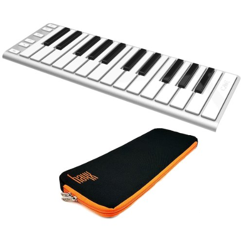 Cme Xkey 25-Key Mobile Keyboard Controller With Cme Xkey Supernova Carrying Case Includes 30 Free Songs For Piano Maestro For Ios And 30 Free Songs For Pc