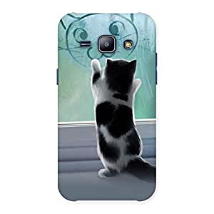Gorgeous Cute Kitty Face Print Back Case Cover for Galaxy J1