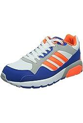 Adidas Men's RUN9TIS , BLUE/ORANGE/WHITE