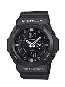 Casio GA-150-1AER G-Shock Men's Quartz Watch with Black Dial Analogue - Digital Display and Black Resin Strap