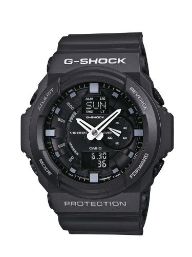 Casio G-Shock Men's Quartz Watch with Black Dial Analogue - Digital Display and Black Resin Strap GA-150-1AER