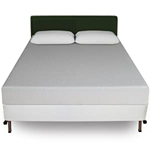 Sleep Master 8-Inch Memory Foam Mattress and Bi-Fold Box Spring Set, Queen