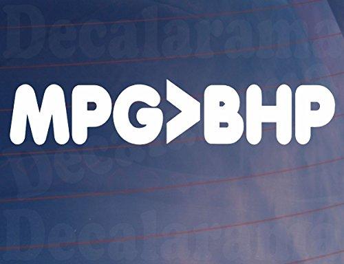 MPG > BHP Funny Neuheit Witz hypermiler Auto/Van/Fenster/Bumper Vinyl Sticker/Aufkleber