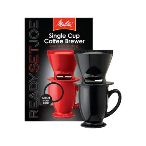 Melitta 64010 Pour Over One-Cup Ceramic Coffeemaker-Black made by Melitta from Coffee Maker World