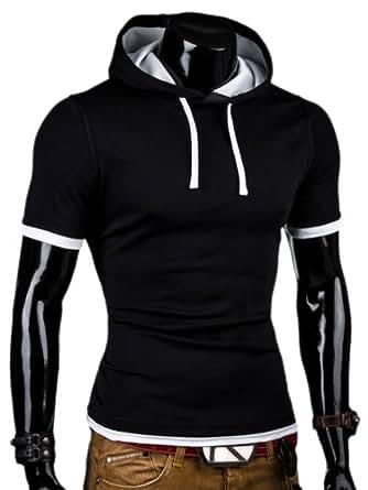 MT Styles - T-shirt 2 en 1 BS-677 - capuche intégrée - Taille XL