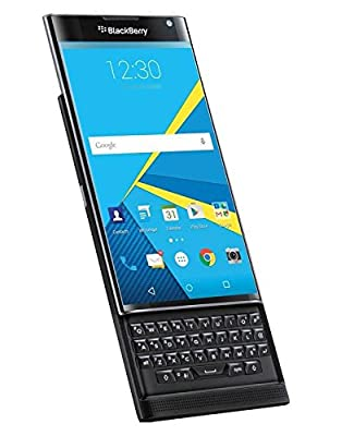 BlackBerry Priv STV100-1 32GB Unlocked GSM 4G LTE Android 18MP Camera Smartphone w/ Curved Edge Screen & Slide-Out Keyboard - Black