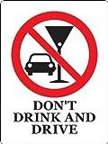 飲酒運転禁止サイン(壁面設置用粘着両面テープ付)/DON'T DRINK AND DRIVE Sign(w/ double sided adhesive tape)
