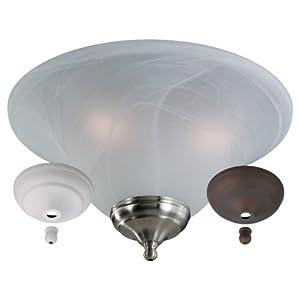 monte carlo mc04 l 3 light fan light kit white faux. Black Bedroom Furniture Sets. Home Design Ideas