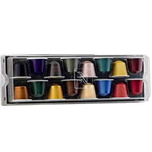 Genuine 16 Nespresso Capsules Starter, Variety, Selection Gift Box