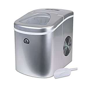 Reviews On Igloo Countertop Ice Maker : Amazon.com: Igloo Silver Portable Countertop Ice Maker w/ Scoop ...