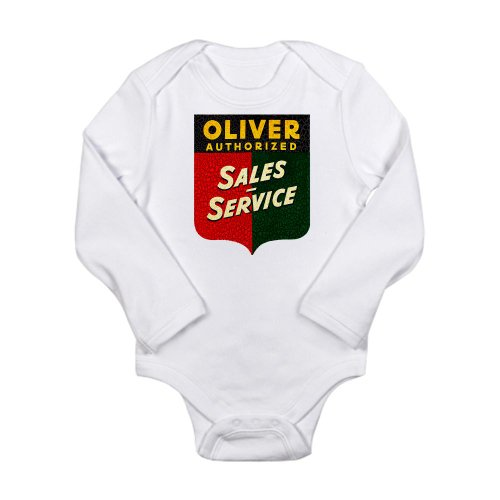 Cafepress Oliver Tractor Sales Service Body Suit Long Sleeve Infant Bo - 6-12M Cloud White