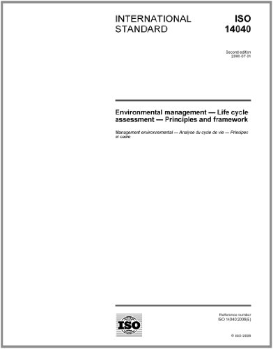ISO 14040:2006, Environmental management - Life cycle assessment - Principles and framework